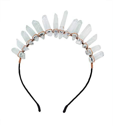 The Dragon Queen Crystal Crown Matte Rainbow Mystic Aura Crystal Crown Mermaid Crown Wedding Crown