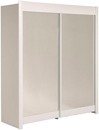 Tousmesmeubles Armario 2 Puertas correderas 180 cm Blanco – plyx – L 182 x l 61 x H 207 – Neuf: Amazon.es: Hogar