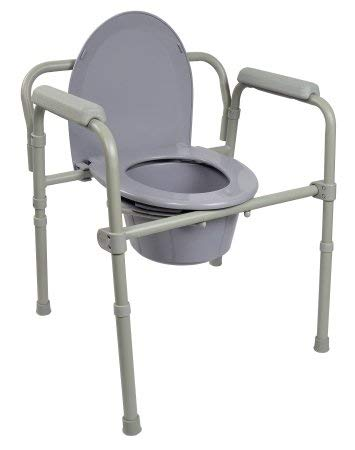 McKesson Folding Steel Frame Commode with 7.5 QT Bucket - 1 Each / Each - 11843301 ()