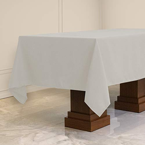 Kadut Rectangle Tablecloth (60 x 126 Inch) White Rectangular Tablecloth for 8 Foot Table | Heavy Duty Washable Table Cloth for Dinner, Parties, Weddings, | Wrinkle-Resistant Dining Table Cover