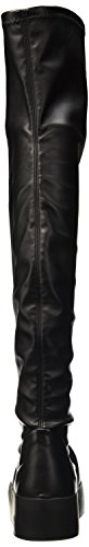 Mujer W S negro H Bikkembergs Leather Altas Zapatillas 714 Boot er Stretch para Pow rwXq7OXY