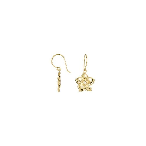 14k Yellow Gold Forget Me Not Flower Earring (101 Gorgeous Earrings)