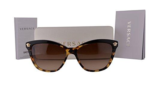 6bb7608a10e Versace VE4313 Sunglasses Black Havana w Brown Gradient Lens 517713 VE 4313  For Women - Buy Online in UAE.