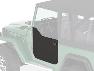 Bestop 53030-01 Black Crush Fabric Lower Half Door Set for 1964-1984 Toyota Landcruiser, FJ40 - Door Latch Pivot