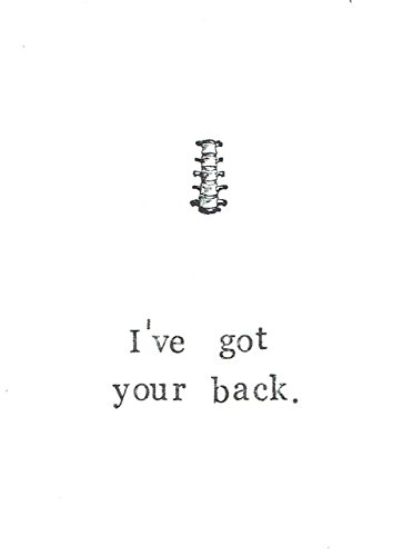 I've Got Your Back Funny Science Medical Valentine Card   Geeky Nerdy Spine Skeleton Anatomy Pun -