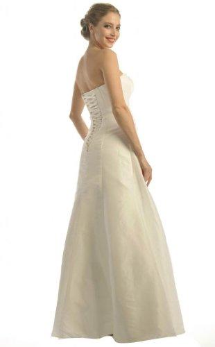 hochzeits-shop-hamburg Brautkleid Schlicht Lang-Vestido de novia Mujer - Ivory