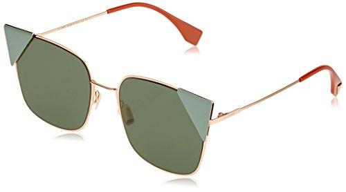 Sunglasses Fendi Ff 191/S 0DDB Gold Copper / O7 green ltgreenaf lens