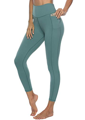 Yoga Pants for Women High Waisted - Butt Lift - Non See Through Soft Athletic Workout Leggings with Pockets (sage, M)