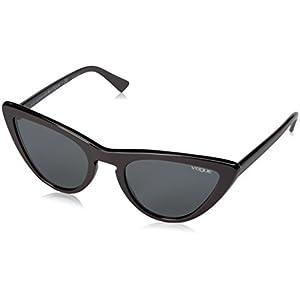 VOGUE Women's Plastic Woman Cateye Sunglasses, Black, 54 mm