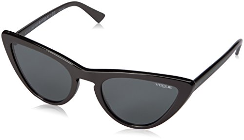 VOGUE Women's Plastic Woman Cateye Sunglasses, Black, 54 - Women Glasses Vogue