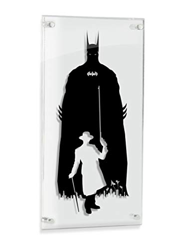 Gotham Parade - Batman and Joker silhouette - hand cut paper - Silhouette Parade