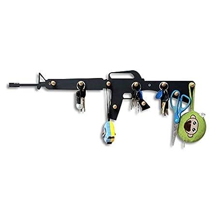 Amazon.com: Perchero de Peg M16 Rifle Arma Diseño 9 bolas de ...