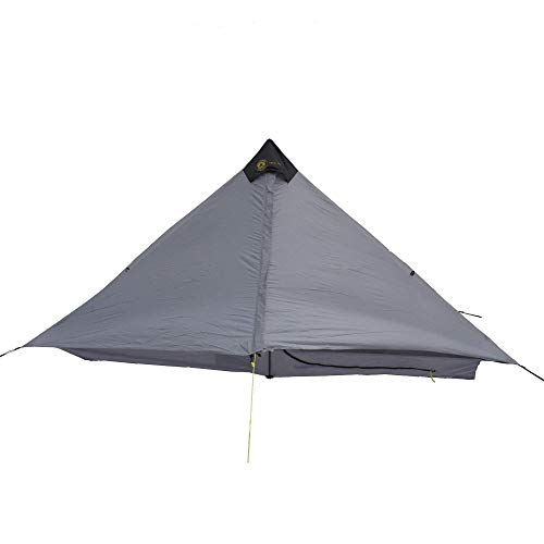 Six Moon Designs Lunar Solo – 26 oz. Gray, 1 Person Tent – 2019 Version