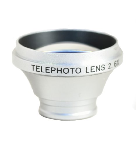 Wide Macro Ultra Zoom Lens x 2.6 System For Smartphone (Silver)
