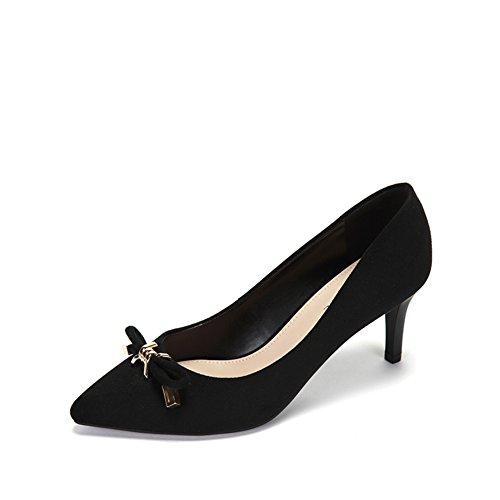Lady Butterfly Knoten Spitze Schuhe,Stiletto Heels A