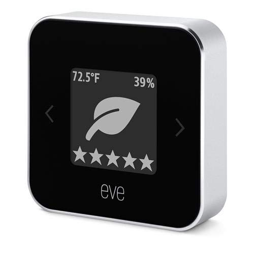 Eve Room - Indoor Air Quality Monitor for tracking VOC, temperature & humidity, e-Ink-Display, Bluetooth Low Energy, black (New Generation; Apple HomeKit)