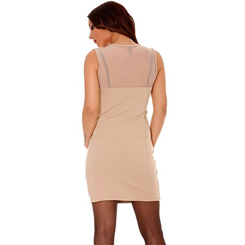Miss Wear Line Damen Kleid Beige Beige