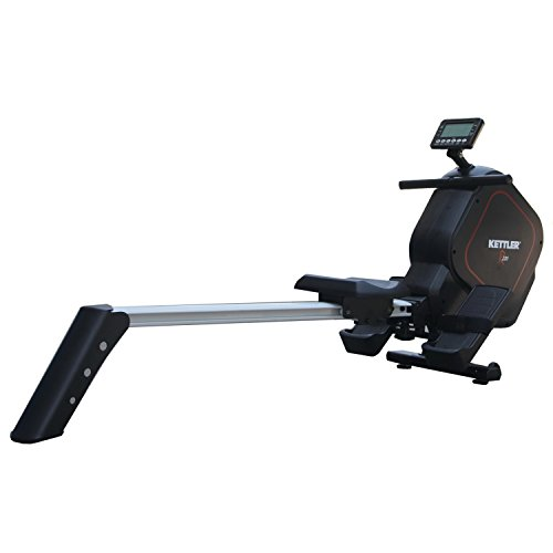 Kettler R220 Programmable Magnetic Rower with 16 Level Adjustable Resistance and Non-Wearing, Balanced Brake System