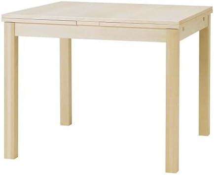 IKEA BJURSTA Ausziehtisch in Birkenfurnier; (90129168x90cm