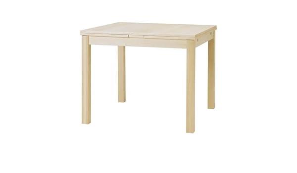 Ikea bjursta – Mesa extensible en abedul Chapa; (90/129/168 x 90 ...