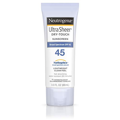 Neutrogena Ultra Sheer Dry-Touch Water Resistant and Non-Greasy Sunscreen Lotion with Broad Spectrum SPF 45, 3 fl. oz (Pack of 3)