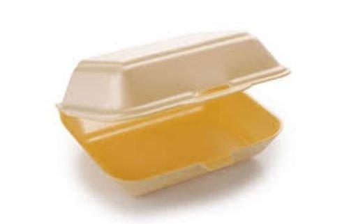 NITAAR Polystyrene Foam Takeaway Food Box 100 Fish Chips Burger Box HP2 MB9 HB9
