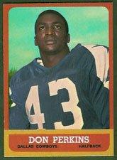 - 1963 Topps Regular (Football) Card# 75 Don Perkins of the Dallas Cowboys VGX Condition