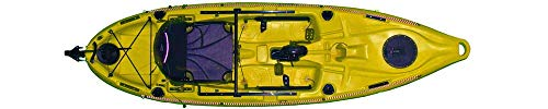 RIOT Fishing Kayak with Pedal Drive 10'ft Yellow Pedal Kayak Propeller Driven Deluxe