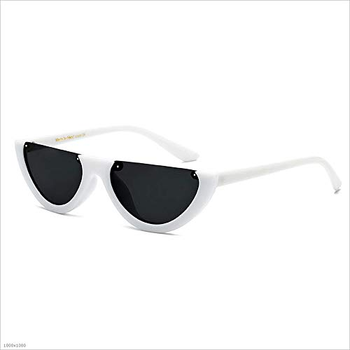 Gafas Rojo Rimless Mujeres Color Blanco para Driving Party Beach Sol Vacation Estilo protección Fishing Semi Retro Punky UV Eyewear de Bar Retro Zt1pqRYwH