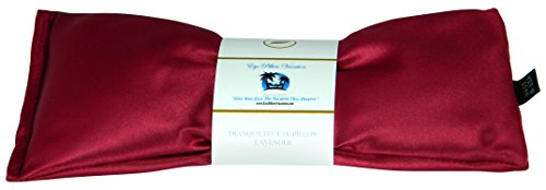 Flax Eye Pillow (Lavender Eye Pillow - Migraine, Stress & Anxiety Relief - #1 Stress Relief Gifts For Women - Made In The USA,, Organic Flax Seed Filled! ON SALE! (Ruby Red - Ultra Silky Satin))