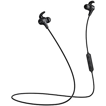 AUKEY Latitude Wireless Headphones, 3 EQ Sound Modes, Magnetic Bluetooth Earbuds with Sweat-Resistant Design and aptX for iPhones, Samsung Phones, Apple Watch and More-Black