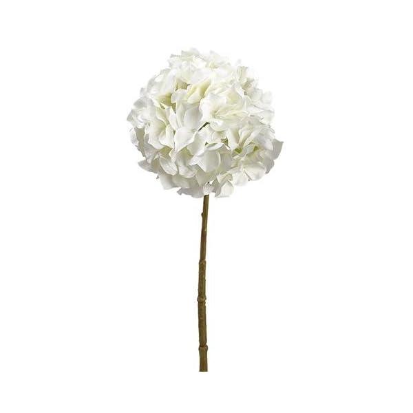 Afloral White Oversized Hydrangea Silk Flower – 8″ Bloom