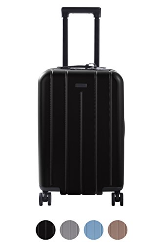 Carry On Luggage Lightweight Suitcase Spinner (Black)