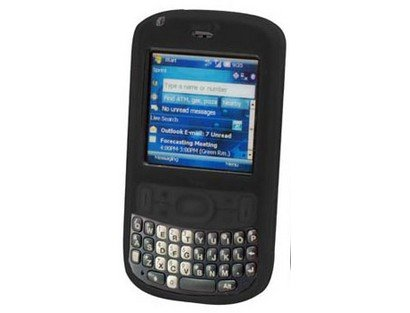 Premium Black Silicone Cover Soft Rubber Gel Case for Palm Treo 800w [Retail Packaging]