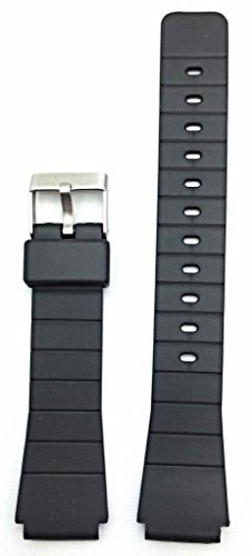 16mm Black Rubber Watch Band -- Comfortable and Durable PVC Material