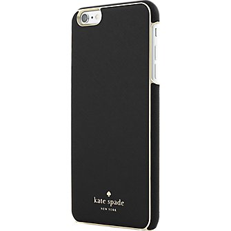 Kate Spade New York Wrap Case Saffiano Leather iPhone 6 (Black/Gold) (Black Cell Phone Wrap)