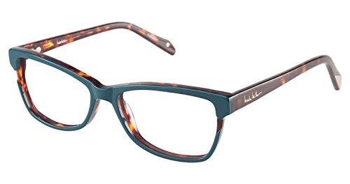 Nicole Miller Ellery Eyeglass Frames - Frame TEAL/TORTOISE, Size - Glasses Ellery