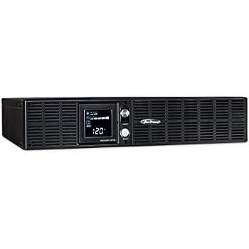 CyberPower OR2200PFCRT2U PFC Sinewave UPS System, 2000VA/1540W, 8 Outlets, AVR, 2U Rack/Tower