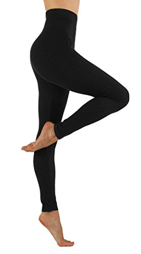 vesi-star-womens-soft-cotton-yoga-pants-flexible-exercise-workout-leggings-s-m-usa-0-6-vs-010-black