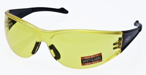 Full Throttle Motorcycle Wrap Around Safety Glasses Various Lens Colors Basic Lens Color: Yellow - Colors Glasses Tint