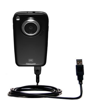 Hot Sync and Charge Straight USB cable for the Memorex MyVid