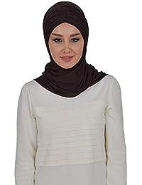 Jersey Hijab Shawl for Women Cotton Head Wrap Muslim Turban Cap Instant Scarf