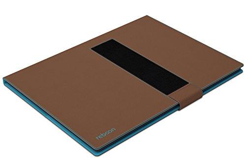 Funda para Huawei MediaPad T1 10.0 en Negro - Innovadora Funda 4 en 1-Anti-Gravedad para Montaje en Pared, Soporte de Tableta en Vehículos, Soporte de Tableta - Protector Anti-Golpes para Coches y Par Marrón