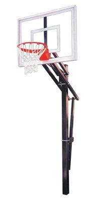 最初チームSlamターボsteel-glass in ground調整可能バスケットボールsystem44、ゴールド   B01HC0EA5G