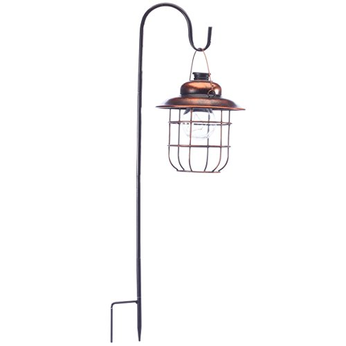 Miles Kimball Copper Solar Hanging Lantern