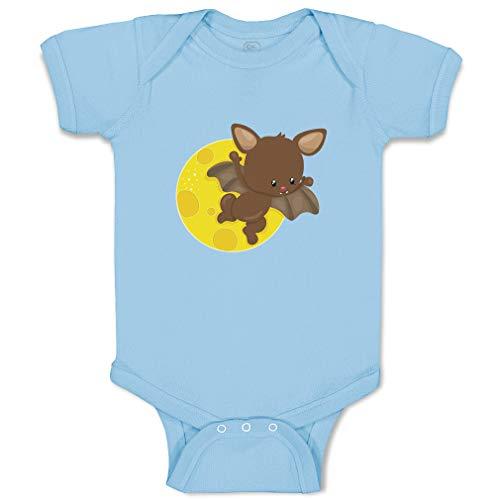 Custom Boy & Girl Baby Bodysuit Bat Fly Funny Cotton Baby Clothes Light Blue Design Only Newborn