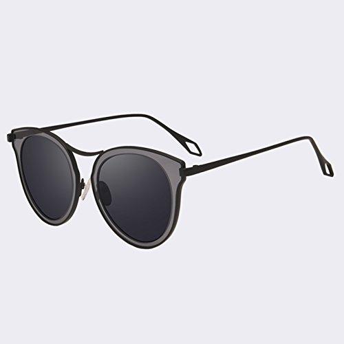 gafas C3azul clásico sombras polarizadas C01Gray mujer gafas sol Gato UV400 de Vintage de espejo TIANLIANG04 Ojo de nxOWn