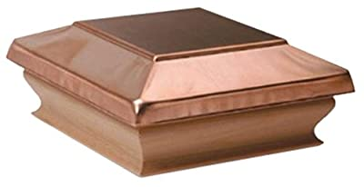 Woodway Products 870.1890 4-by-4-Inch Redwood Large Flat Top Post Cap, 12-Pack, Copper