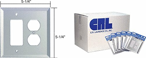 (CRL Clear Mirror Glass Decora Outlet/Duplex Plug Mirror Plate in Bulk Pack Pack of 60 by CR Laurence)