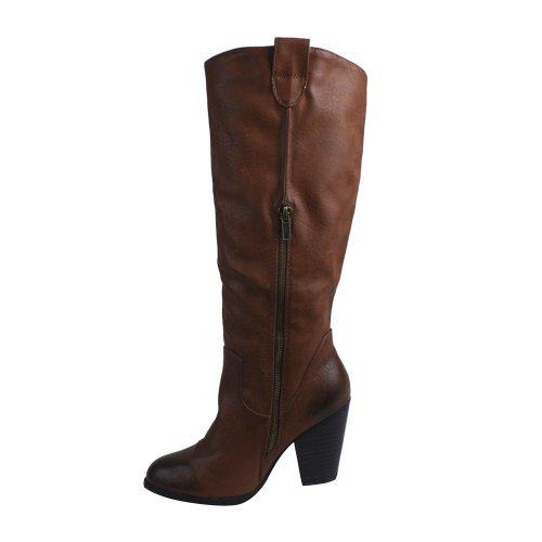 Boots Collection Knee De Cognac Ingrid Blossom High 1M Womens Riding agnwqpvwOx